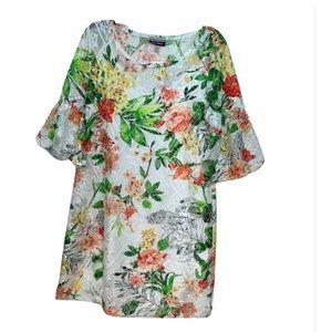 🆕 Allison Brittney Floral Lace Swing Dress